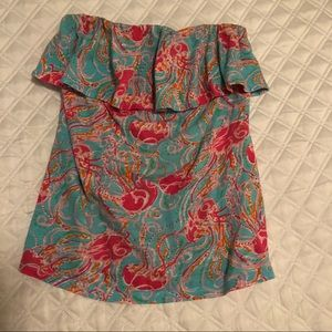 Lilly Pulitzer Wiley Strapless Top